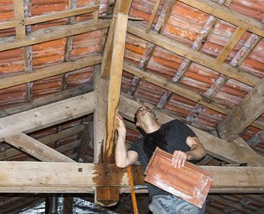 Les infiltrations par les toitures